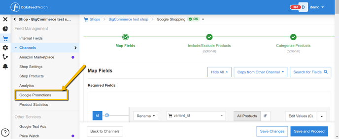 Google-promotions-feed-automation
