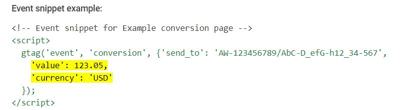 How_To_Track_Google_Ads_Conversions_Event_Snippet_Tag_Customised_with_Conversion_Value
