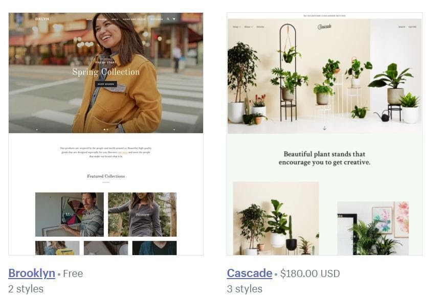Shopify-storefront-templates
