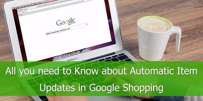 Automatic Item Updates Google Shopping
