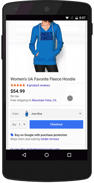 Google Buy Button to Purchase