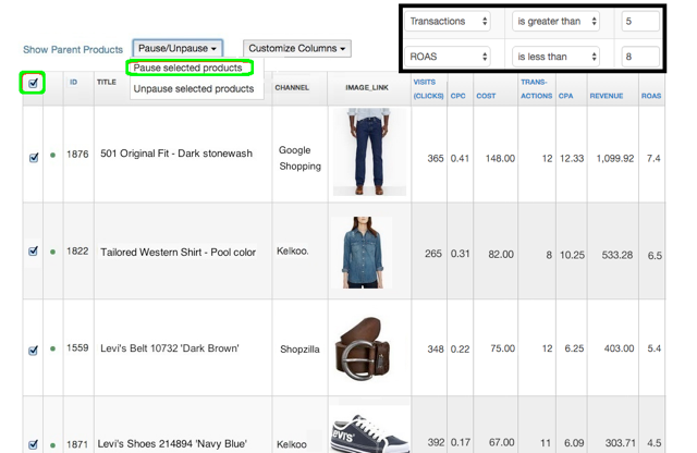 Selling on Connexity with an Analytics Filter
