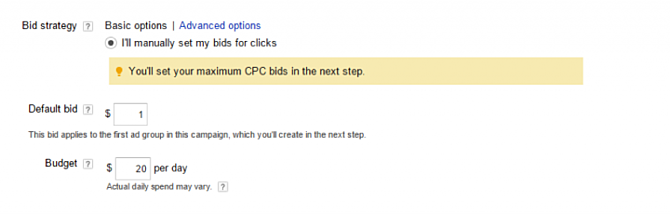 Create a Google AdWords Campaign Bidding Strategy