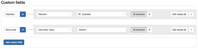 Custom Fields in New DataFeedWatch Rules