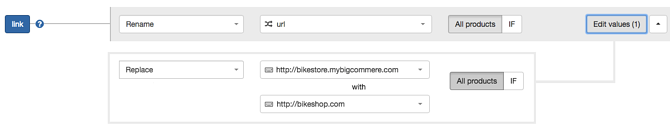 DataFeedWatch Replace Link BigCommerce URL
