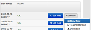 DataFeedWatch Options to Show Data Feed