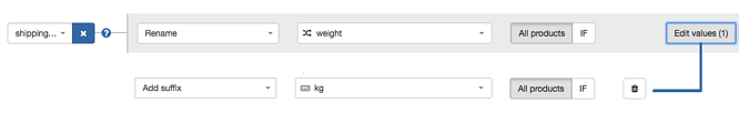 Shipping Weight and Suffix in New Rules in DataFeedwatch