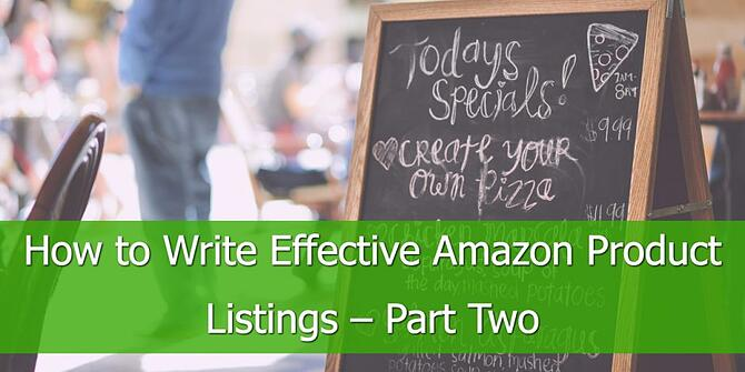 Effective Amazon Product Listings