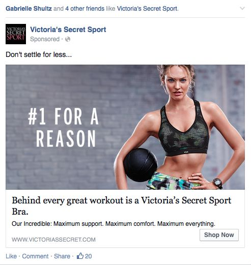 Victorias Secret Facebook Dynamic Product Ad