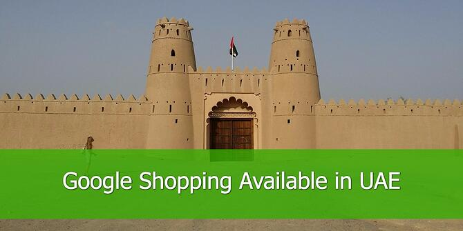 Google Shopping is Available in UAE
