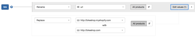 Replace Link Shopify-URL New Rules in DataFeedWatch