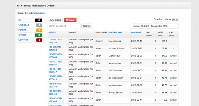Magento Merchant Amazon Order Management