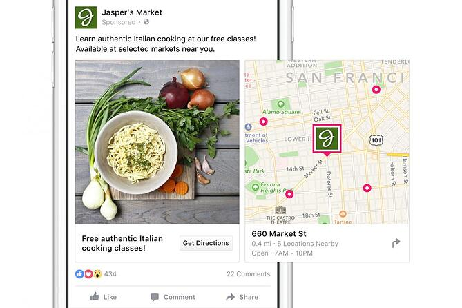 Add Map Card in Facebook Ads