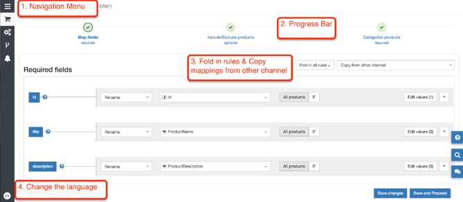 New DataFeedWatch Mapping Page Navigation