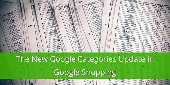 The New Google Categories Update in Google Shopping
