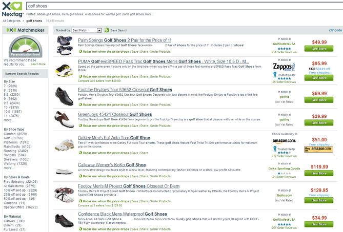 Nextag Comparison Shopping Engine Shoes