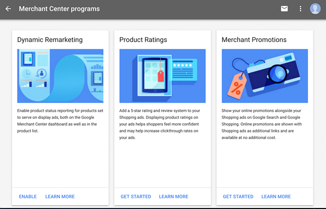 Google Merchant Center Programs Update