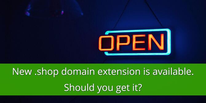 Should you get the .shop Domain Extension
