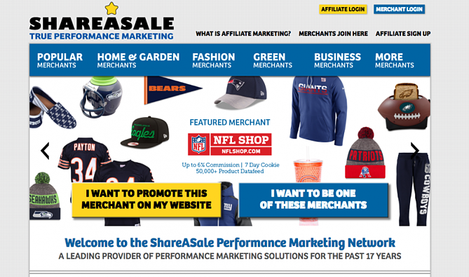 Shopping Channel Affiliate Network Share-a-Sale