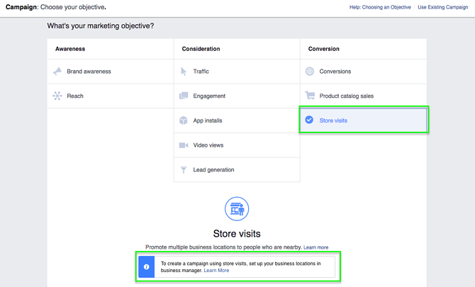 Create a Store Visits Facebook Ads Campaign
