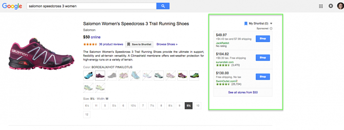 View Seller Ratings on Google Shopping